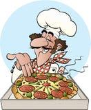Boulanger de pizza Images libres de droits