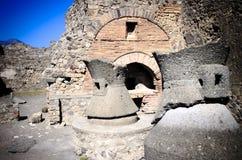 Boulangerie à Pompeii photos libres de droits
