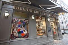 Boulangerie bakery Lyon. Boulangerie bakery shop in Lyon. France. February, 2015 Stock Image
