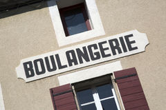 Boulangerie Bakery Sign, Provence, France Stock Image