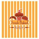 Boulangerie cuite au four fraîche Photographie stock libre de droits