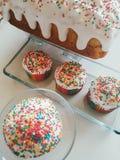 Boulangerie d?licieuse russe de P?ques Petits g?teaux dans la glace photo libre de droits