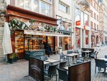 Boulangerie de Boulanger d'artisan de Poulaillon dans les Frances Photo libre de droits