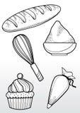 Boulangerie de dessin Images libres de droits