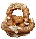Boulangerie de fête ukrainienne d'isolement Photographie stock libre de droits