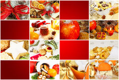 Boulangerie de Noël, étiquettes de cadeau Photo stock