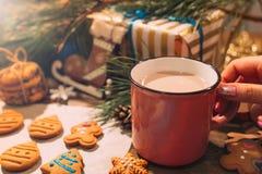 Boulangerie de Noël avec la fin de latte  image libre de droits