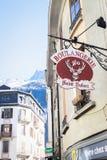Boulangerie in den französischen Alpen Lizenzfreies Stockbild