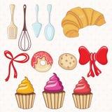 boulangerie et gâteau, plats de cuisine Vecteur Photo stock