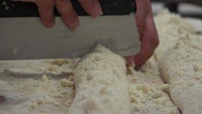Boulangerie et petit pain doux banque de vidéos