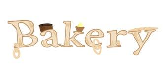 Boulangerie et produits de Word illustration de vecteur