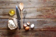 Boulangerie, farine, pâtisserie, pâtisseries, ingrédients, recette photos libres de droits