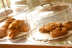 Boulangerie fraîche d'une plaque Images libres de droits