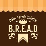 Boulangerie fraîche quotidienne B r E a Vecteur de fond de D Image stock