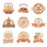 Boulangerie Logo Emblem Set Image libre de droits