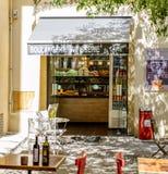 Boulangerie Patiserie La Duchesse Aix-en-Provence. AIX-EN-PROVENCE, FRANCE - JUL 17, 2014: Boulangerie Patiserie La Duchesse - Typical Provence sweet pastry Royalty Free Stock Photos