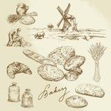 Boulangerie, paysage rural, pain Image libre de droits