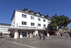 Boulangerie traditionnelle dans Siegen, Allemagne images libres de droits