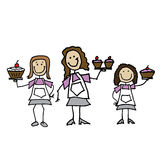 Boulangers féminins de bâton Image libre de droits