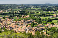 Boulbon in the Bouches du Rhone. The hill top village of Boulbon in the Bouches du Rhone Provence Stock Photography