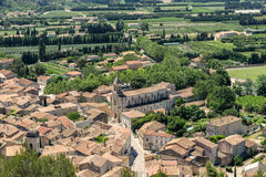 Boulbon in the Bouches du Rhone. The hill top village of Boulbon in the Bouches du Rhone Provence Stock Photo