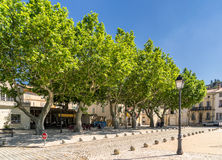 Boulbon in the Bouches du Rhone. The hill top village of Boulbon in the Bouches du Rhone Provence Royalty Free Stock Image