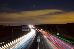 Boulder à pista expressa de Denver Highway 36 Imagem de Stock Royalty Free