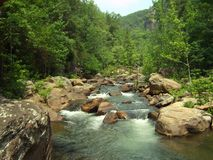 Boulder-заполненное река стоковые изображения