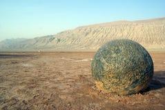 Boulder. Big boulder in desert, West China Stock Photos