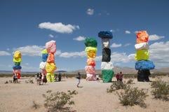 Boulder Art Exhibit außerhalb Las Vegass stockfotografie