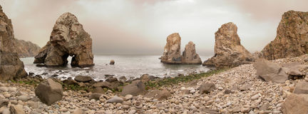 Boulder beach at Cabo da Roca royalty free stock image