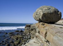 Boulder on a cliff Royalty Free Stock Photo