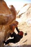 Boulder Climbing Stock Image