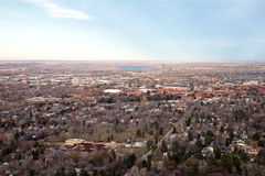 Boulder, colorado. This is an aerial view of Boulder, Colorado Royalty Free Stock Photo