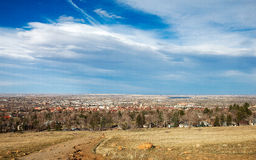 Boulder, colorado. This is an aerial view of Boulder, Colorado Royalty Free Stock Photography