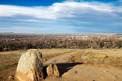 Boulder, colorado. This is an aerial view of Boulder, Colorado Royalty Free Stock Image