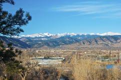 Boulder, Colorado en invierno foto de archivo