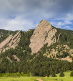 Boulder Colorado Flatirons. Chautauqua Park in Boulder Colorado Stock Photo