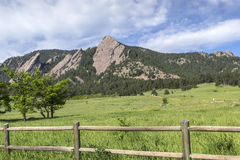 Boulder Colorado Flatirons. Flatirons Climbing Rocks in Boulder Colorado Royalty Free Stock Images