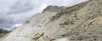 Boulder dump after mountain slide Stock Photos