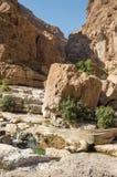 Boulder in einem Tal vor Bewässerung chanel Lizenzfreie Stockbilder