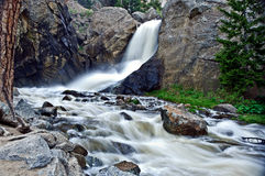 Boulder Falls on Boulder Creek. A view of Boulder Falls on Boulder Creek in  in the Rocky Mountain foothills just outside Boulder, Colorado Stock Photography