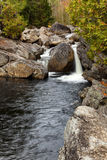 Boulder Falls. Located in the Adirondacks New York royalty free stock photo
