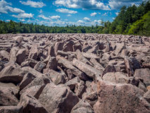 Boulder field in Hickory Run State Park Royalty Free Stock Images