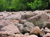 Boulder Field. Large rocks in boulder field Pennsylvania Royalty Free Stock Photo