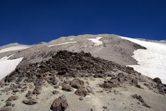 Boulder field on Mt. St. Helens Royalty Free Stock Images