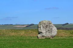 Boulder in a field in Summer Royalty Free Stock Photography