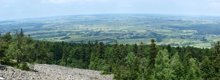 Boulder field, Swietokrzyskie Mountains, Poland Royalty Free Stock Images