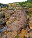 Boulder!. Large and impressive rock at Blyde River Canyon, South royalty free stock images