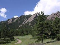 Boulder le Colorado Flatirons Photos stock
